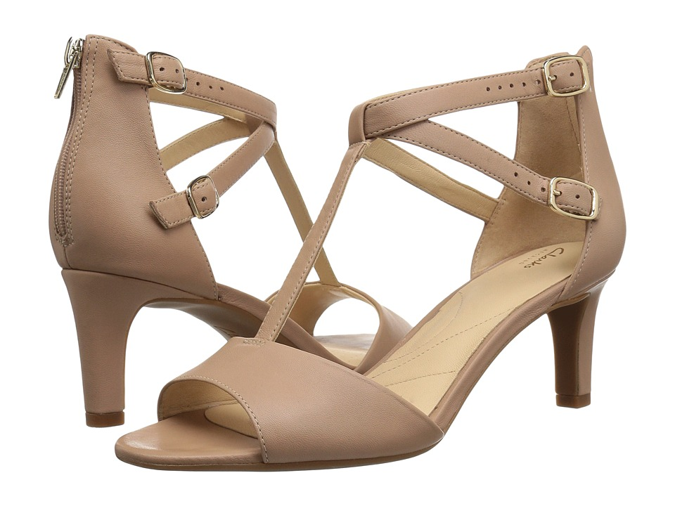 Clarks Laureti Pearl (Beige Leather) High Heels