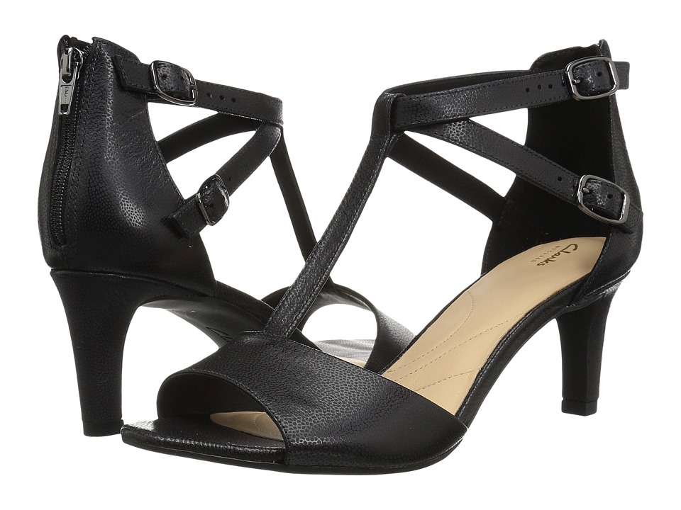 Clarks Laureti Pearl (Black Nubuck) High Heels
