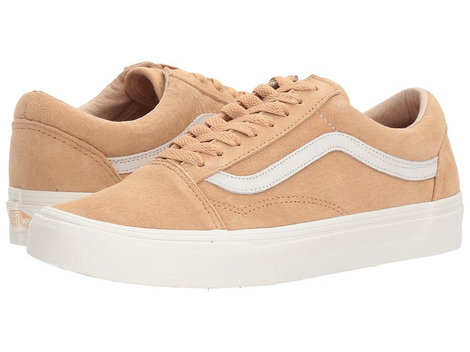 Vans - Old Skooltm ((Pig Suede) Porcini/Blanc de Blanc) Skate Shoes