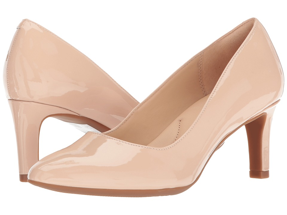Clarks - Calla Rose (Cream Patent Leather) High Heels