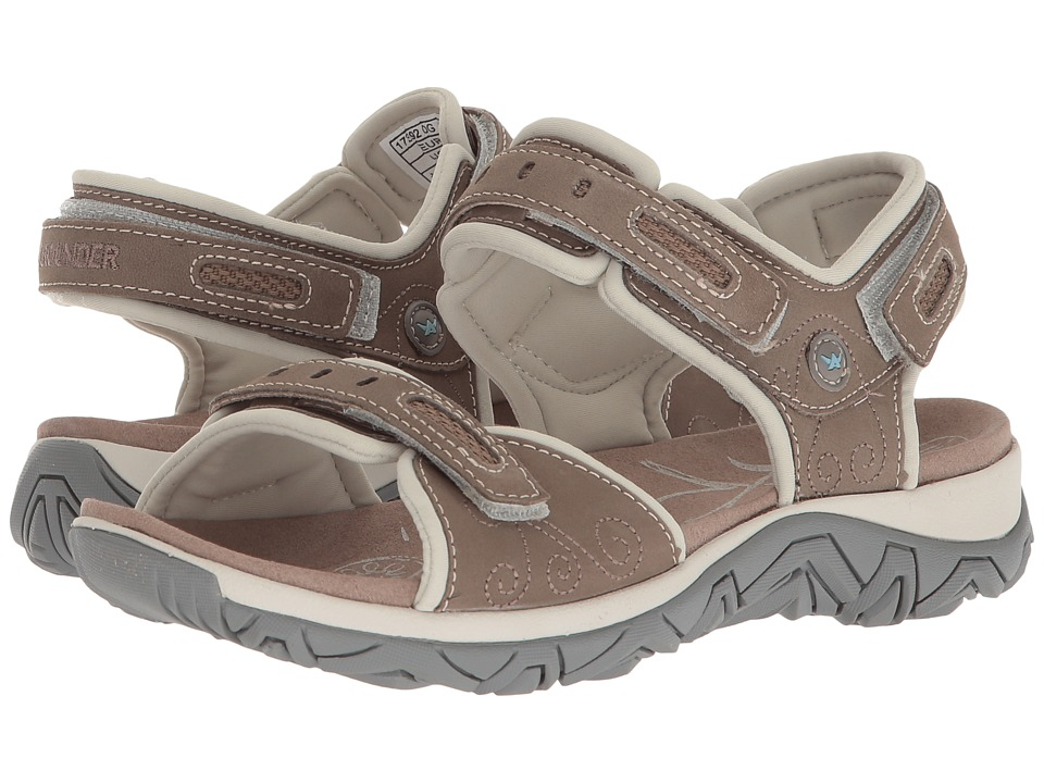 Allrounder by Mephisto - Lagoona (Castor (Grey) Nubuck/Cool Grey D Lycra) Womens Sandals