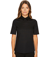 Jil Sander Navy - Cotton Poplin Short Sleeve Collared Shirt