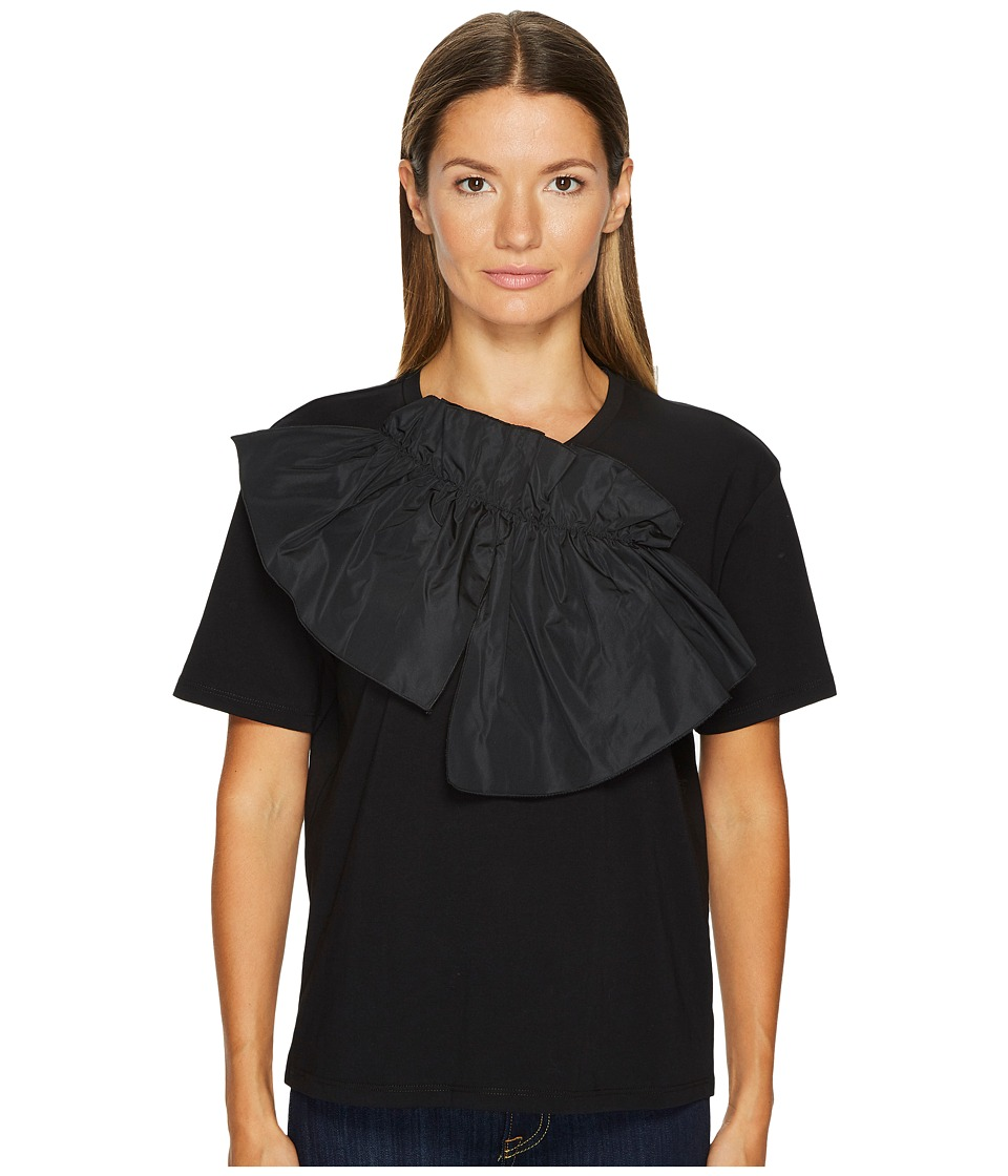 Jil Sander Navy - Jersey Tee with Bow Detail (Black) Womens T Shirt
