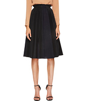 Jil Sander Navy - Plisse Poplin Pleated Skirt