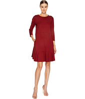Jil Sander Navy - Knit Long Sleeve Dress with Flounce Hem
