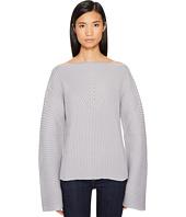 Jil Sander Navy - Wool Boat Neck Long Sleeve Sweater