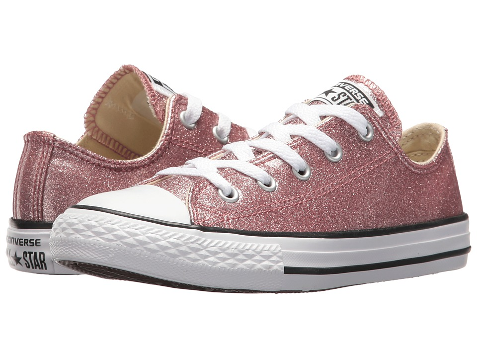 Converse Kids Chuck Taylor All Star Ox (Little Kid/Big Kid) (Rose Gold/Natural/White) Girl's Shoes