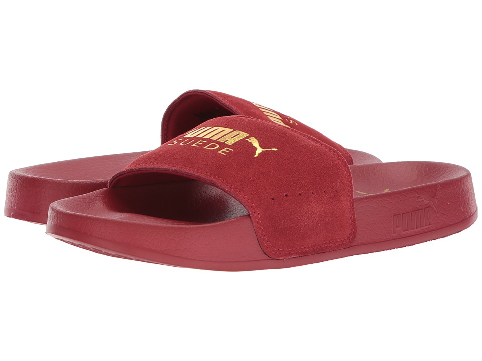 PUMA - Leadcat Suede (Red Dahlia/Puma Team Gold) Women's Sandals