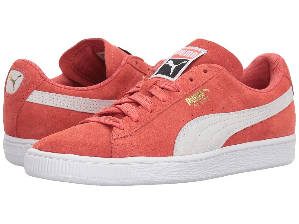 PUMA Suede Classic (Spiced Coral/Puma White) Women's Shoes