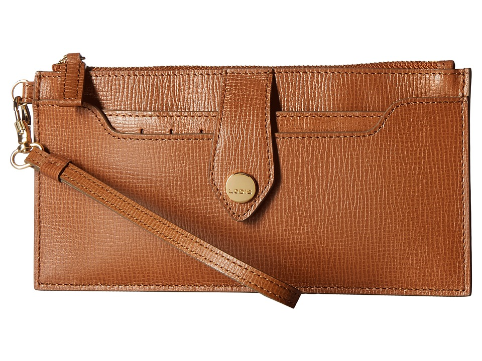 Lodis Accessories - Business Chic RFID Queenie Wallet w/ Removable Card Case (Caramel) Wallet Handbags