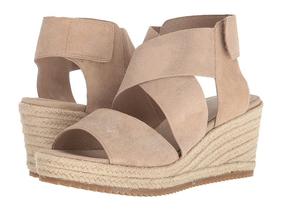 Eileen Fisher Willow 3 (Light Gold Metallic Suede) Wedges