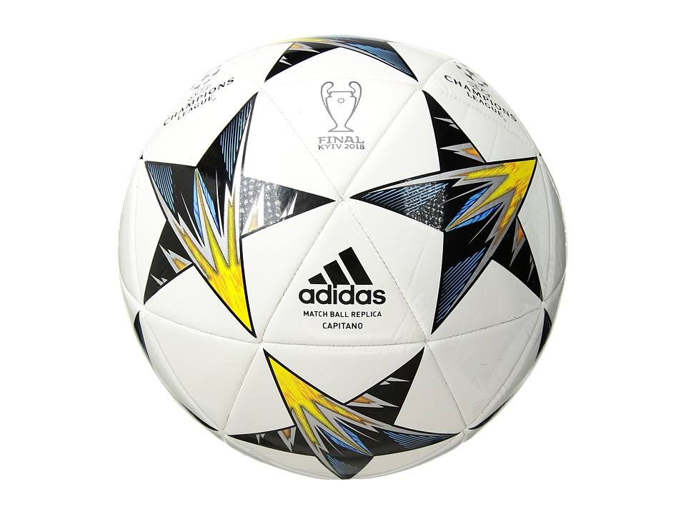 adidas - Finale Kiev Capitano (White/Black/Solar Yellow/Clear Aqua/Orange) Outdoor Sports Equipment