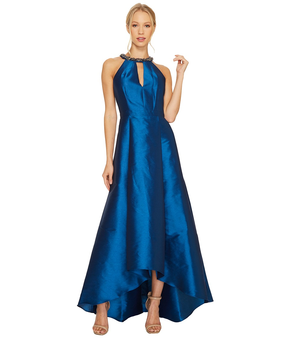 Adrianna Papell - Sleeveless Halter Gown with High