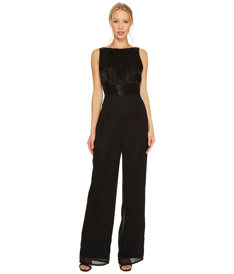 Adrianna Papell - Sleeveless Jumpsuit with Beaded Bodice
