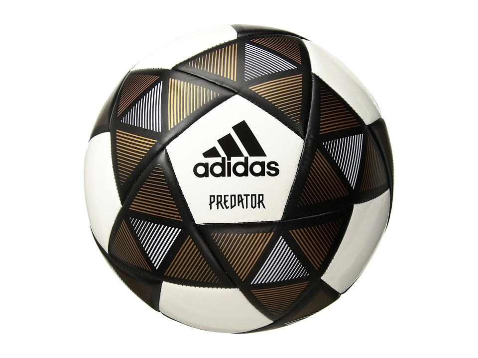 adidas - Predator Glider Soccer Ball (Black/White/Copper Gold) Athletic Sports Equipment