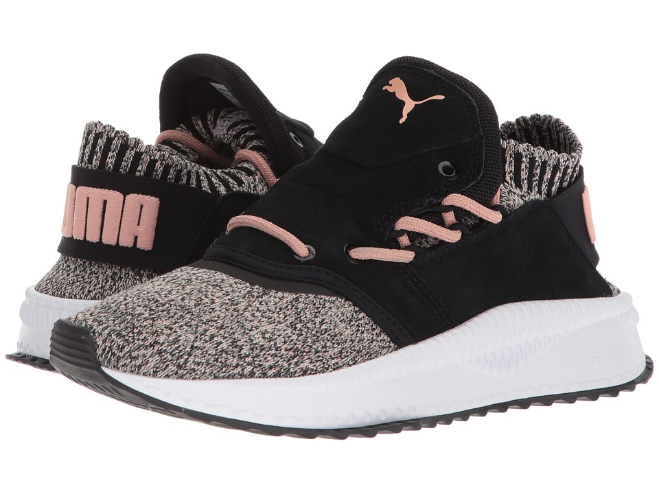 PUMA Tsugi Shinsei evoKNIT (Puma Black/Whisper White/Castor Gray) Women's Shoes