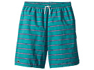 Lacoste Kids Hand Drawn Striped Swim Trunks (Little Kids/Big Kids)
