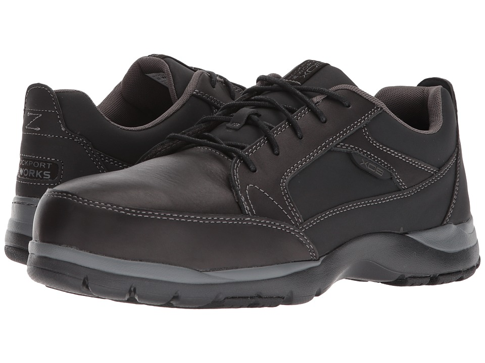 Rockport Works - Kingstin Work Lace-Up (Black 1) Mens Shoes