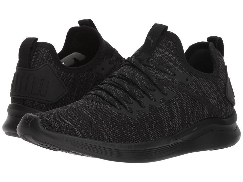 PUMA Ignite Flash evoKNIT (PUMA Black) Women's Shoes