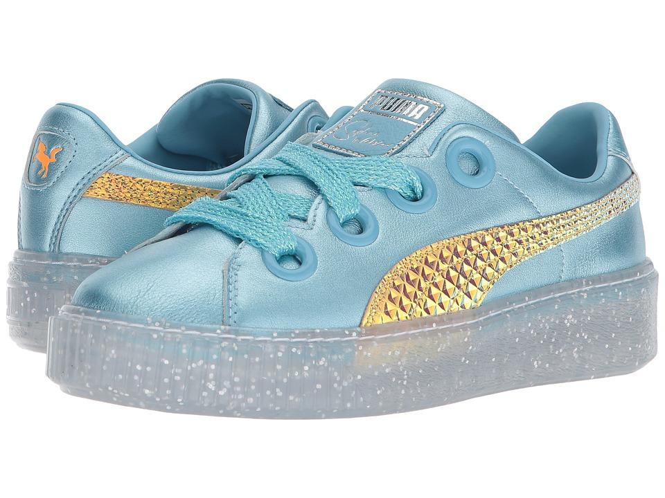 PUMA - Platform Glitter Princess (Metallic Blue/Fluo Orange) Womens Shoes
