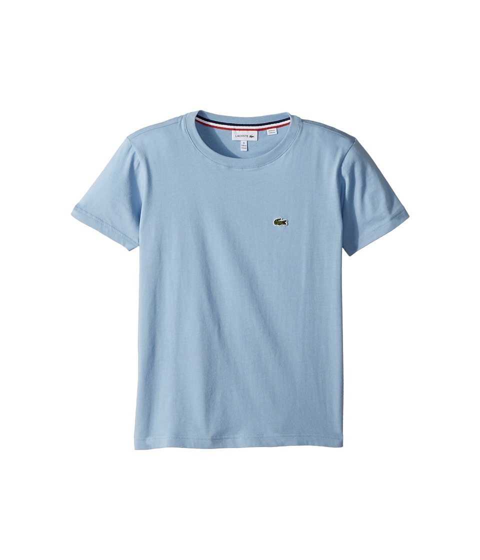 Lacoste Kids - Short Sleeve Solid Crew T-Shirt (Toddler/Little Kids/Big Kids) (Dragonfly) Boys T Shirt