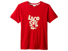 Lacoste Kids Crew Neck Big Print T-Shirt (Little Kids/Big Kids)