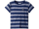 Lacoste Kids Short Sleeve Striped Jersey T-Shirt (Toddler/Little Kids/Big Kids)