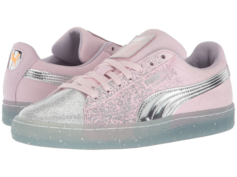 PUMA - PUMA x Sophia Webster Suede Glitter Princess Sneaker (Orchid Hush/Puma Silver/Barely Pink) Womens Shoes