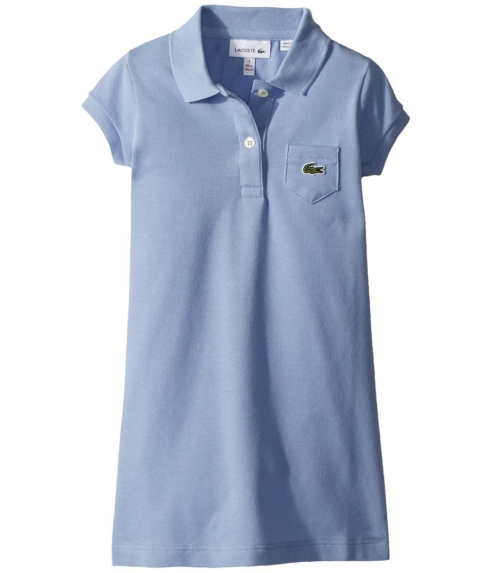 Lacoste Kids - Classic Pique Dress with Pocket (Toddler/Little Kids/Big Kids) (Flottille) Girls Dress