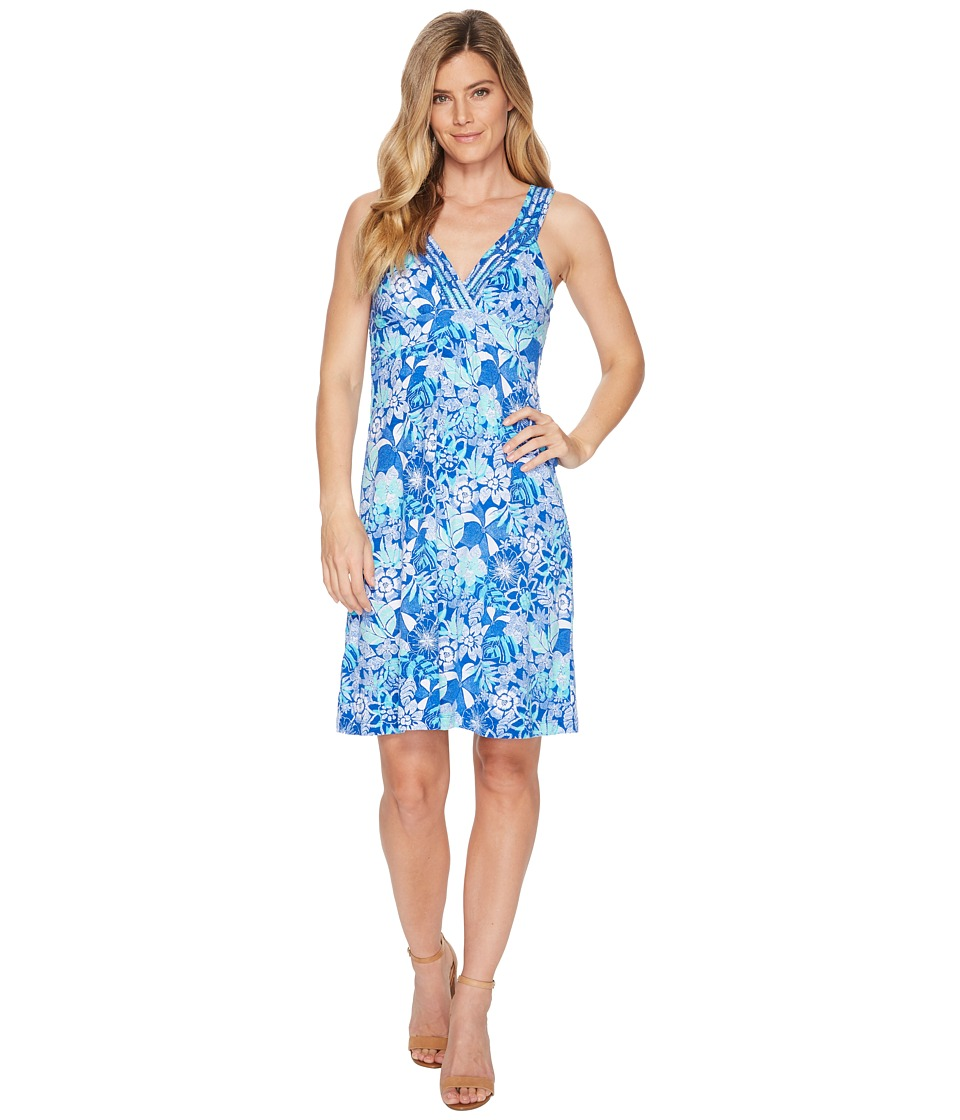 Tommy Bahama Boardwalk Blooms Sleeveless Dress (Cobalt Se...