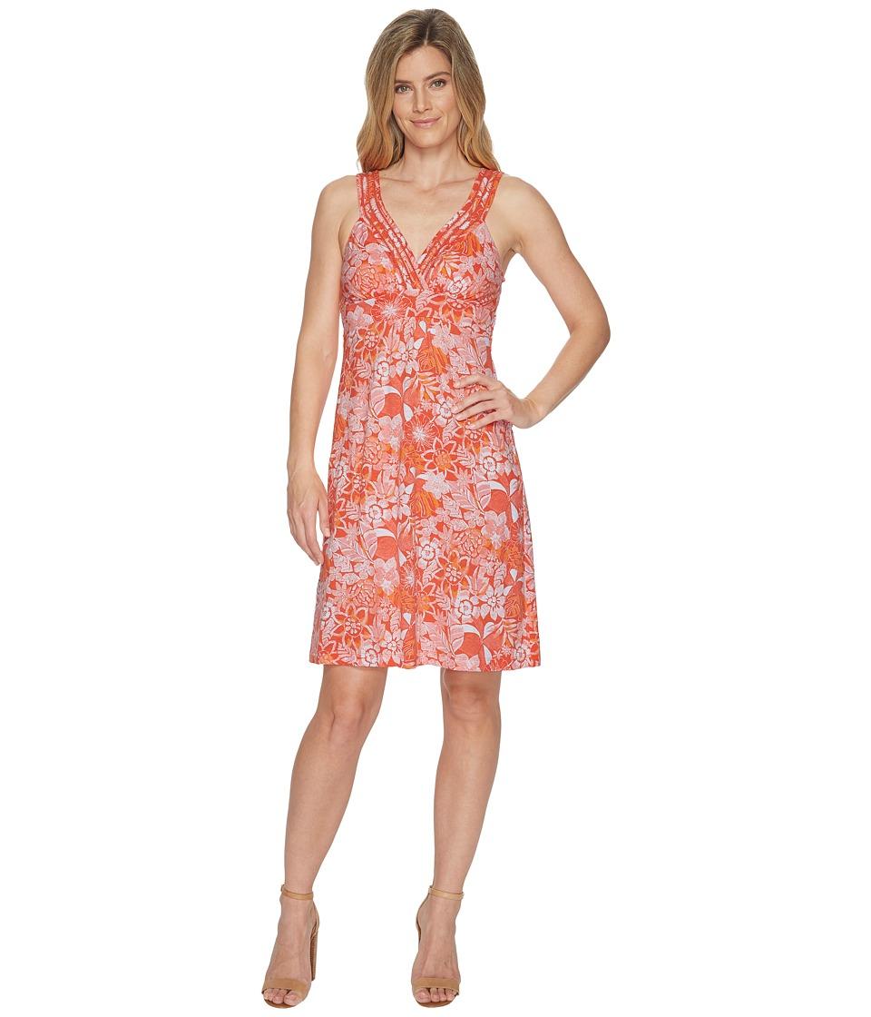 Tommy Bahama Boardwalk Blooms Sleeveless Dress (Burnt Cor...