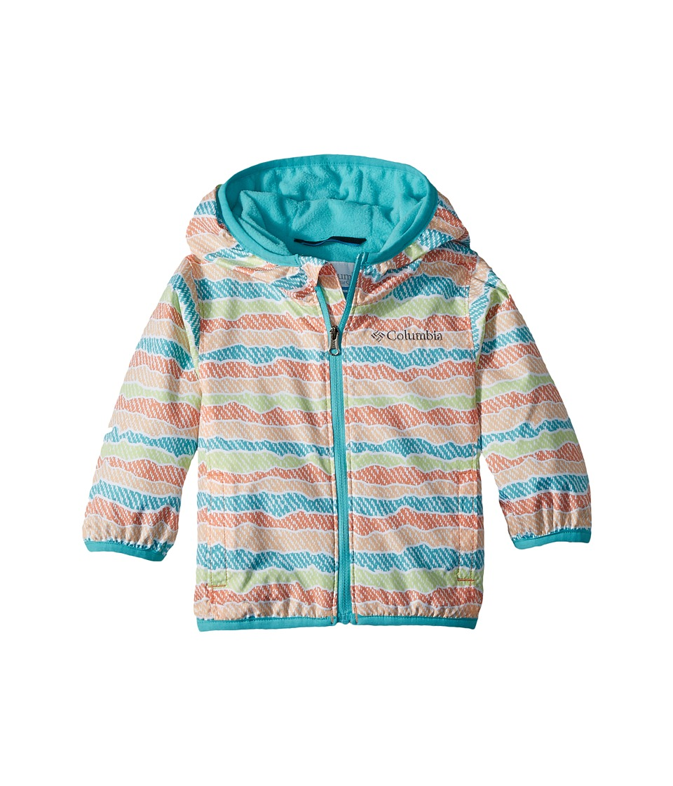 Columbia Kids - Mini Pixel Grabbertm II Wind Jacket (Infant/Toddler) (Peach Stripe) Boys Coat