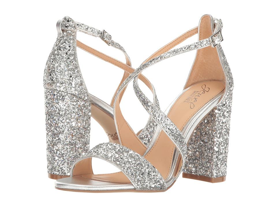 Jewel Badgley Mischka Cook (Silver Glitter) High Heels