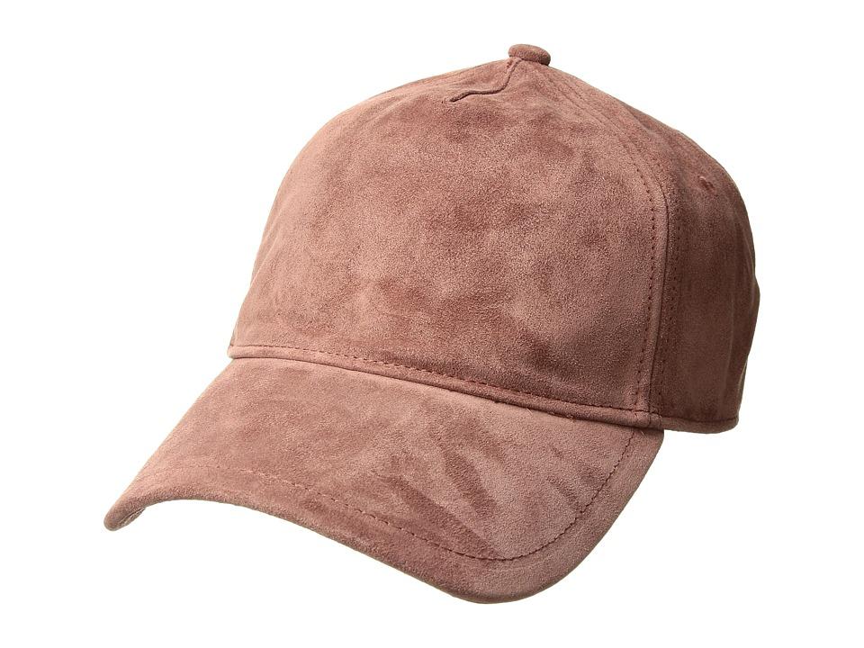 rag & bone - Marilyn Baseball Cap (Mauve Suede) Baseball Caps