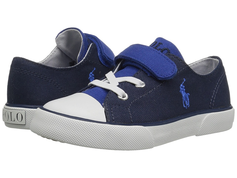 Polo Ralph Lauren Kids - Koni (Toddler) (Royal/Navy Canvas Color Block) Boys Shoes