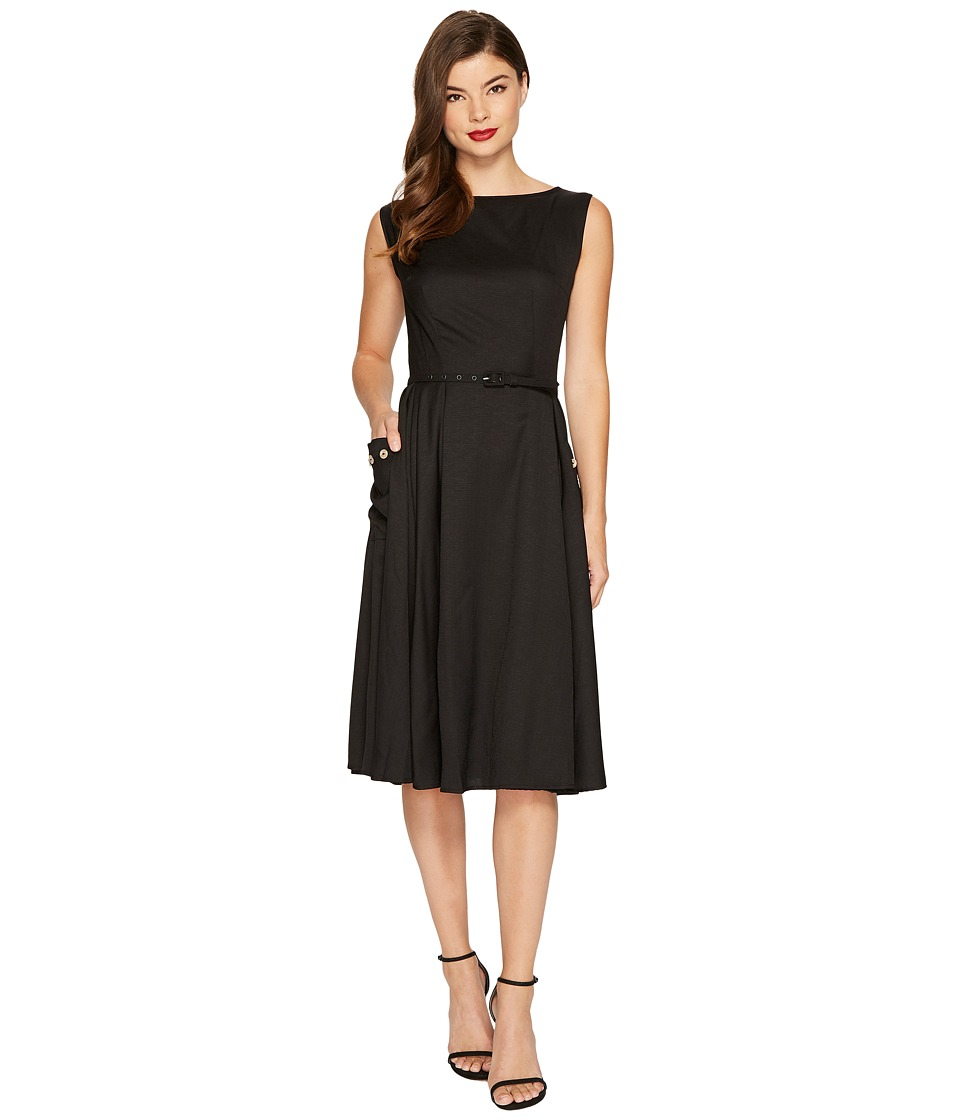 Unique Vintage Eden Sleeveless Dress (Black) Women