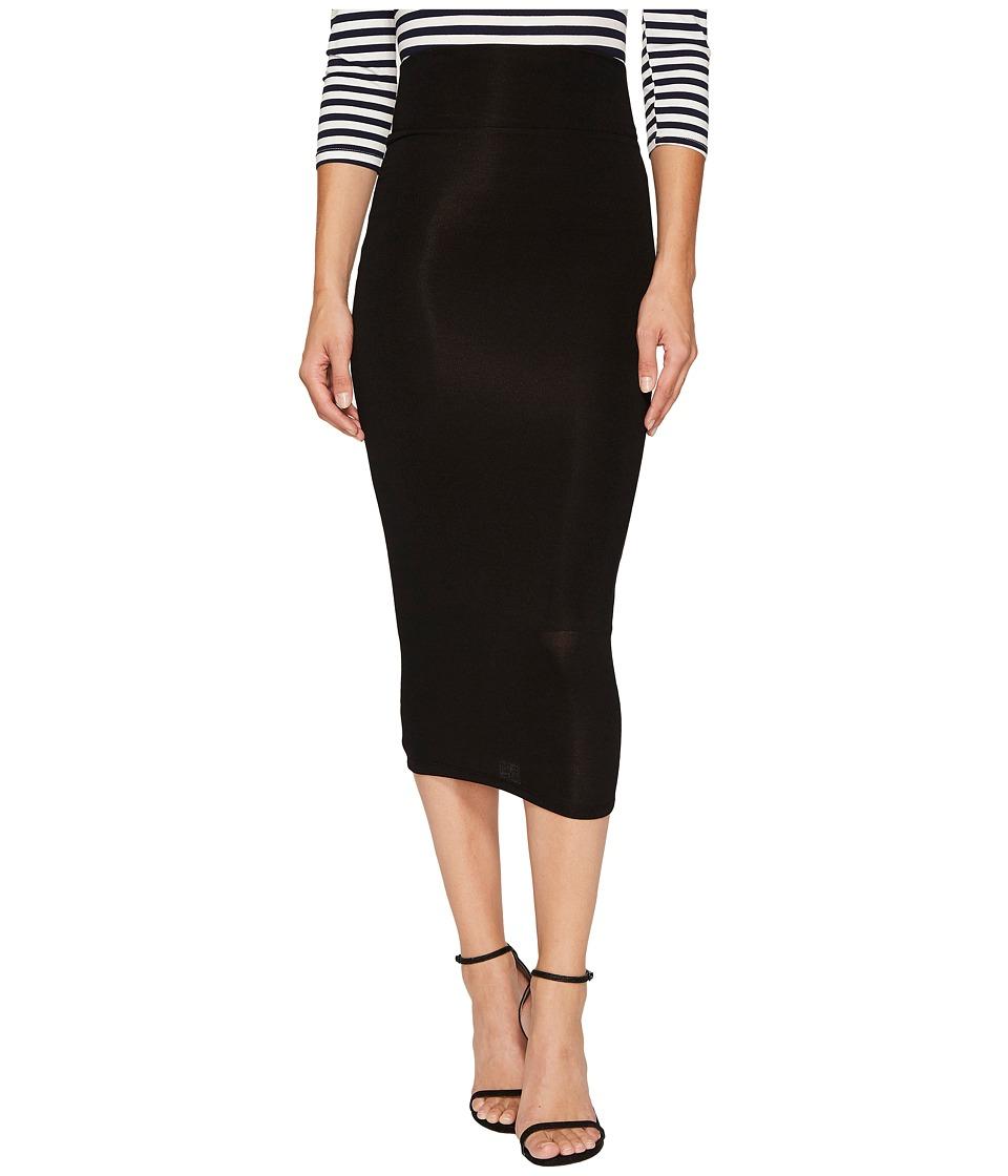 Unique Vintage High-Waist Knit Pencil Skirt (Black) Women