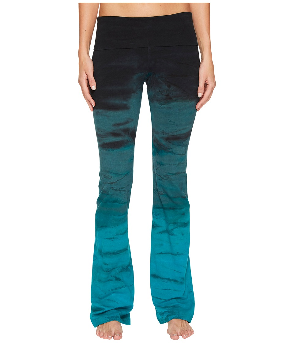 Hard Tail Rolldown Bootleg Flare Pants (Rainbow Horizon 32) Women
