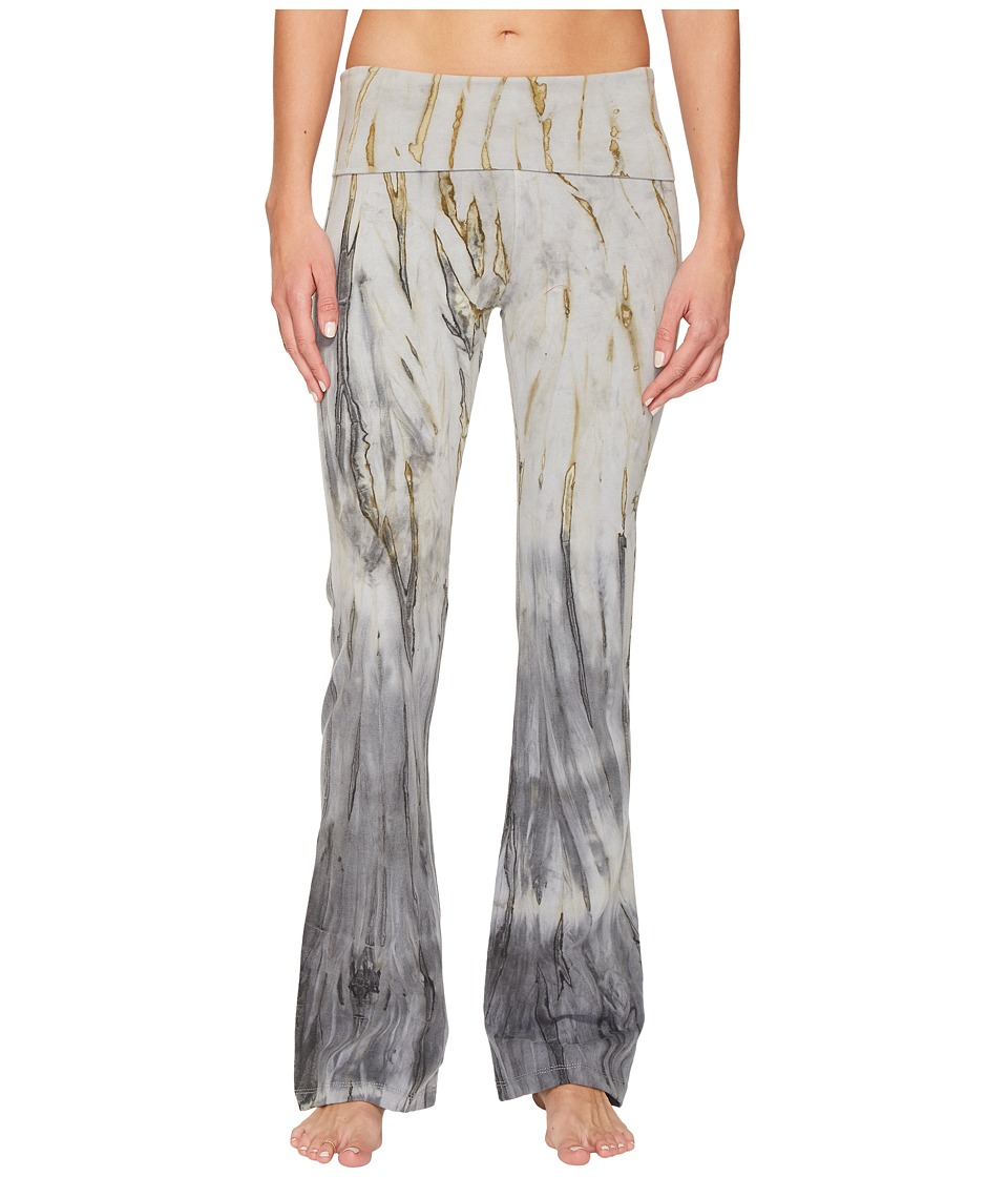 Hard Tail Rolldown Bootleg Flare Pants (Lightning Wash 1) Women
