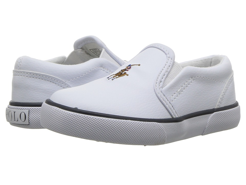 Polo Ralph Lauren Kids Bal Harbour II (Toddler) (White Tumbled/Multi Pony  Player) Boy\u0027s Shoes