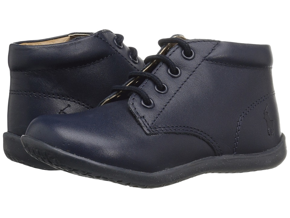 Polo Ralph Lauren Kids - Kinley (Toddler) (Navy Leather) Girls Shoes