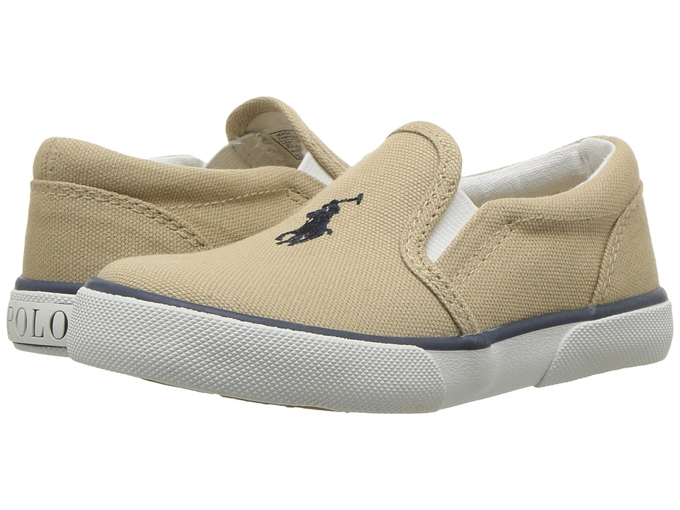 Polo Ralph Lauren Kids - Bal Harbour II (Toddler) (Khaki Canvas/Navy Pony Player) Boys Shoes