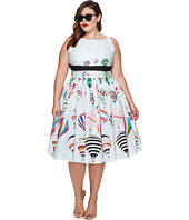 Unique Vintage - Plus Size Sleeveless Dolly Swing Dress