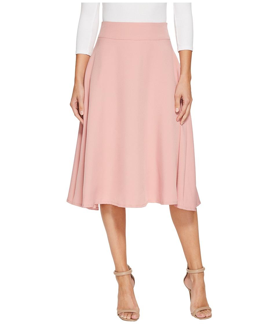 Unique Vintage Vivian Swing Skirt (Rose) Women