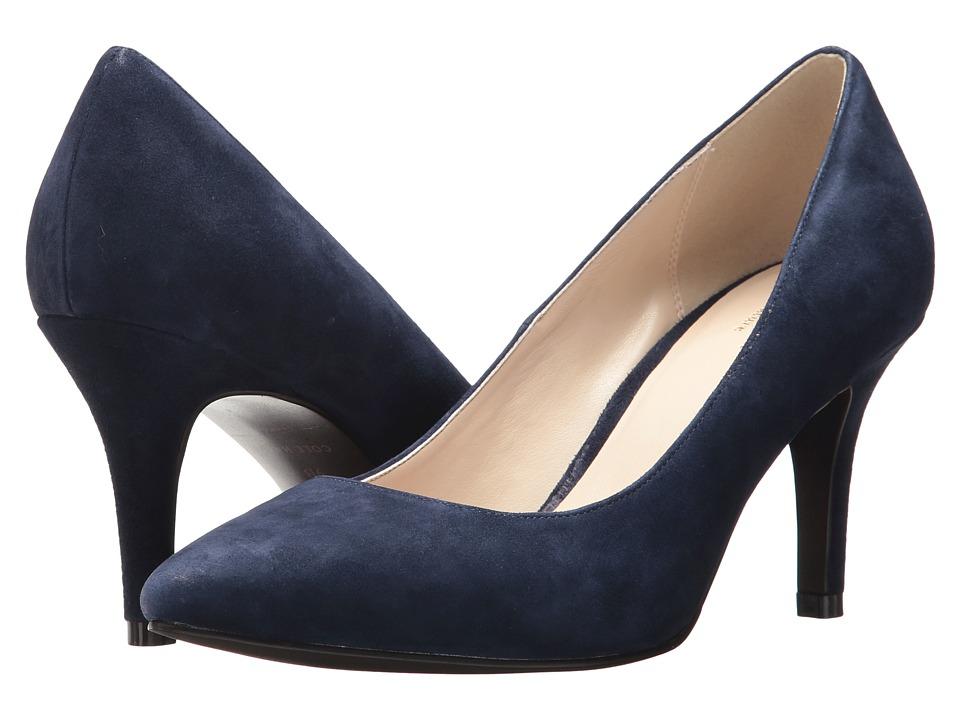 Cole Haan - Juliana Pump 75mm (Navy Suede) High Heels
