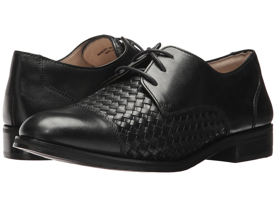Cole Haan Jagger Grand Weave Oxford (Black Leather/Black Weave) Women