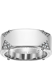 Michael Kors - Brilliance Banded Ring with Logo and Pave Crystal