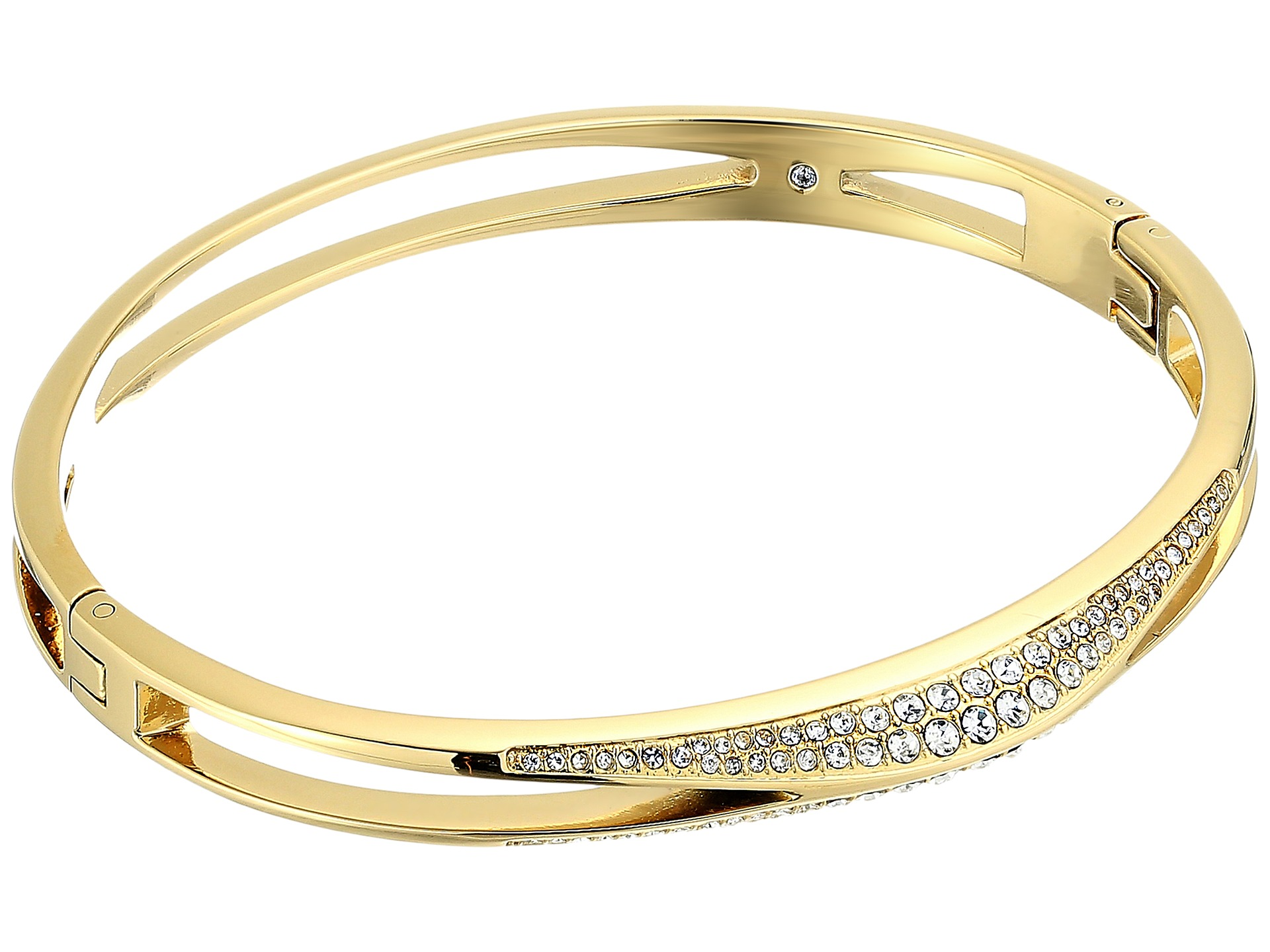 Michael Kors Brilliance Pave Hinged Bangle Bracelet At