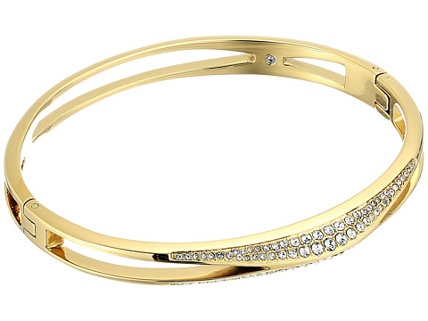Michael Kors Brilliance Pave Hinged Bangle Bracelet - Gold