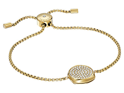 Michael Kors Brilliance Slider Bracelet with Pave Disc - Gold